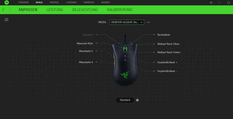 Razer DeathAdder Elite Chroma - Software