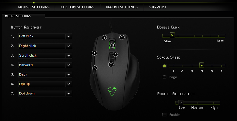 Mionix Naos 3200 - Software