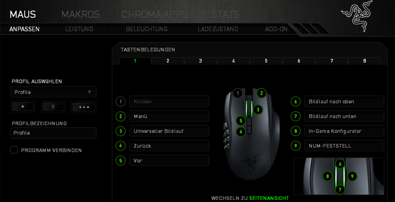 Razer Naga Epic Chroma - Software