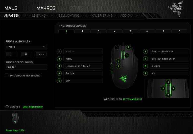 Razer Naga 2014 - Software