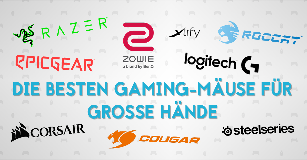 Die besten Gaming-Mäuse für große Hände - Titelbild