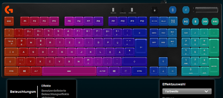 Logitech G810 Orion Spectrum - Software