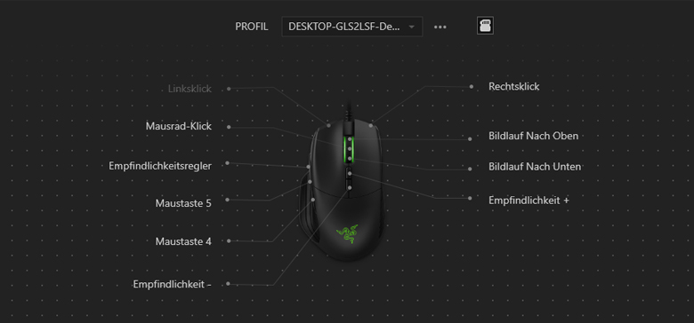 Razer Basilisk - Software