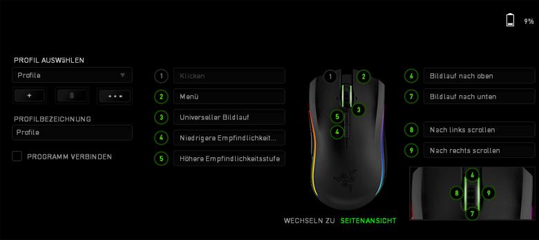 Razer Mamba Wireless Edition - seitliche Ansicht