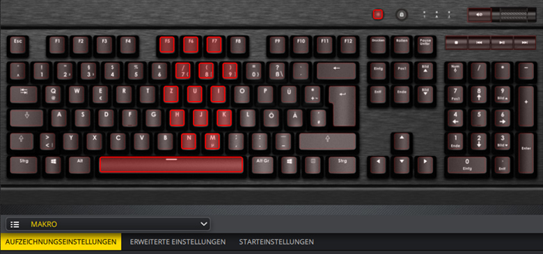 Corsair K70 Lux - Software