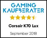 Corsair K70 Lux - Testsiegel