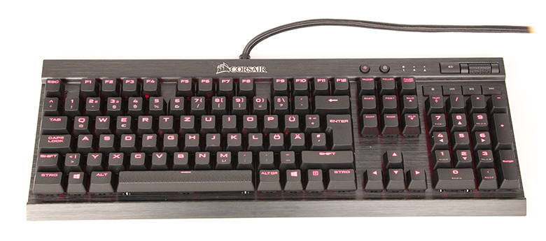 Corsair K70 Lux - Top-Ansicht