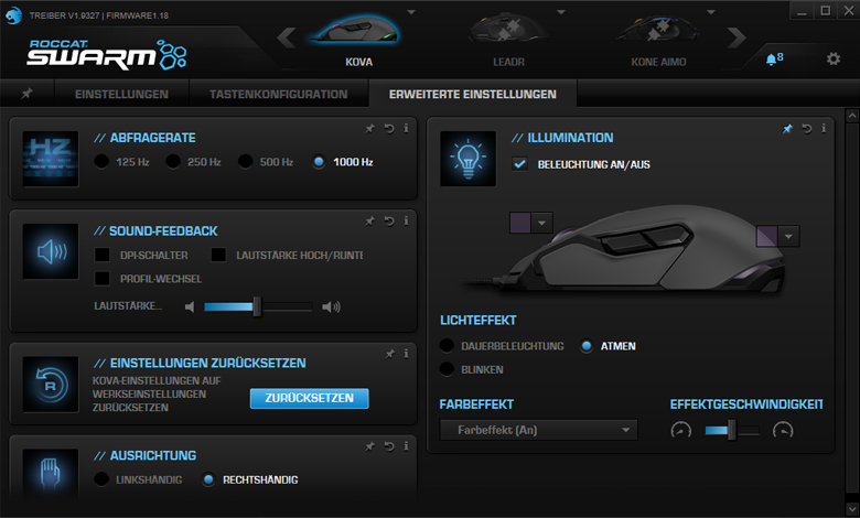 ROCCAT Kova 2016 - Software